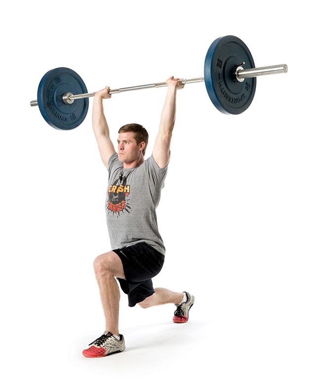 Split Jerk Weightlifting at CrossFit